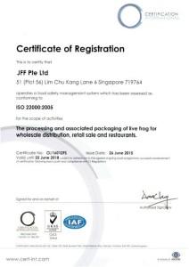 ISO 22000 cert CI 2015-2018