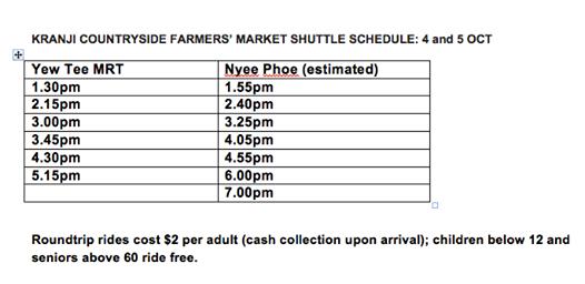 KCFM bus schedule
