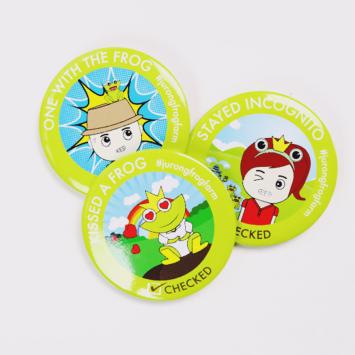 JFF Online Shop Product – Frog Badge 04