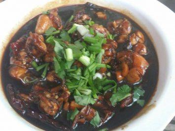 gong bao frog meat dish