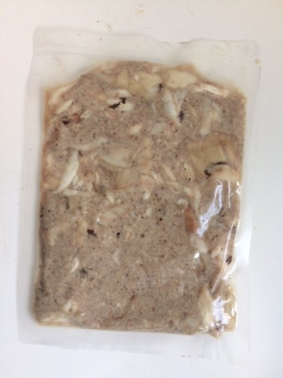 minced frog meat with meat chunks 300g jff