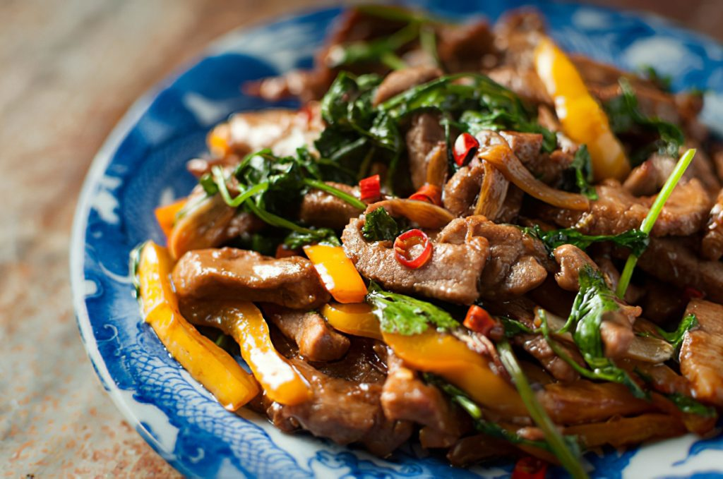 Sweet Pepper Venison Stir Fry