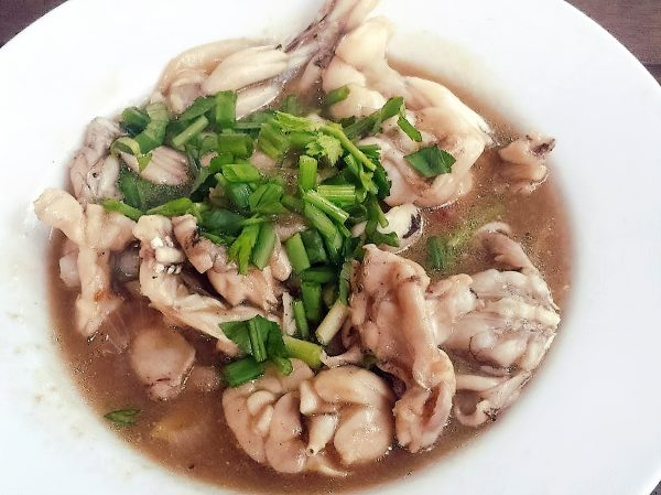 Frog Meat Spring Onion